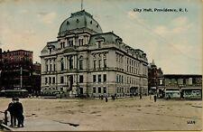 1913 Street View City Hall in Providence Rhode Island RI Postcard A13