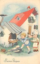 B95035 cooking children in egg house   buona pasqua easter   italy