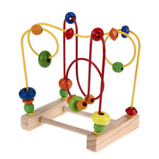 Wooden Toys Baby Math Toys Colorful Mini Around Beads Wire Maze Educational #3YE