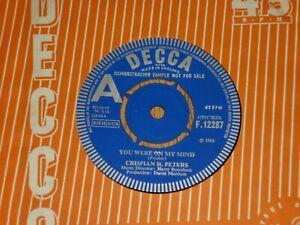 "CRISPIAN St. PETERS - You Were On My Mind - UK DEMO 7"" - DECCA F12287"