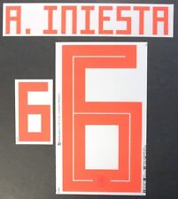 A. INIESTA 6 - 2018 WORLD CUP NAME BLOCK FOR SPAIN AWAY = ADULT SIZE