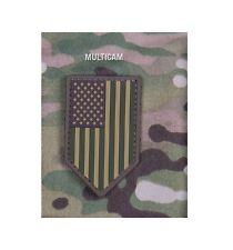 Milspec Monkey MSM PVC Patch US American Flag Vertical Shield MULTICAM - NEW