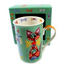 NEW Santoro London designer Tall Mugs Cups in GIft Box 4 Designs Boxed Gift idea