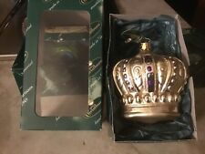 Christborn Glass Ornament Crown Gold made in Germany