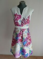 NF BY NICOLA FINETTI - LADIES SIZE 10 LINED DRESS - NEAR NEW WORN ONCE