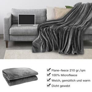 Kuscheldecke Flausch Flanell Decke TV Wohndecke Fleecedecke Couch Plüsch Touch