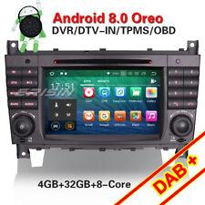 Android 8.0 Autoradio DAB+ GPS Navi DVD Für Mercedes Benz C/CLK Class W203 W209
