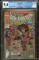 Gen 13 #1 CGC 9.4 White Pages 1995 Variant Cover E  2047254001