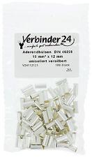 Aderendhülsen, unisoliert, 10 mm² - 12mm , versilbert, 2. Wahl (Beutel á 100 St)