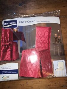 Six Lovely Meradiso Red Wedding/ Dining Chair Cover  BNWT