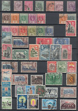 BC Ceylon part of a stamp collection part with scarce issues from 1870-1970 used