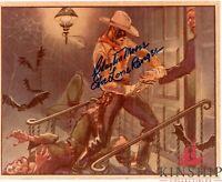 Clayton Moore signed 8x10 Photo inscribed The Lone Ranger JSA COA B648