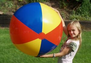 """36"""" EURO STYLE Inflatable 3 COLOR Beach Ball, Glossy Vinyl POOL PARTY Decoration"""