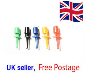 Mini Test Hook Clip Test Probe Testing SMD Grabber Multi-Colour UK Seller
