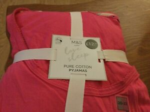 Marks and Spencer Pyjama Pack Top and Capri Pants Size 20-22