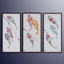 "48"" x 24"" Impressive Koi fish painting set, animal art, Special composition"