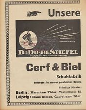 BERLIN-LEIPZIG, Werbung 1925, Cerf & Biel Dr. Diehl-Stiefel Schuhfabrik Schuhe