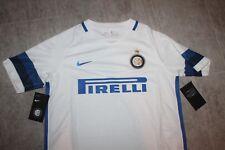 Nike Inter Milán Niños Camiseta Blanco Azul Tamaño Niños XL 158-170cm 13-15yrs