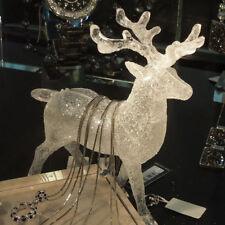 New Christmas Decor Acrylic Deer Elk Xmas Party Decoration Ornament Holiday Gift