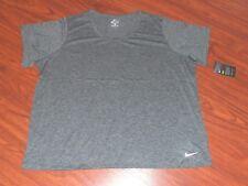 Nike Women's 3XL Plus Size Dri Fit Gray Short Sleeve Training Top NEW TAGS!!