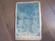 DESSIN ART NOUVEAU AQUARELLE ORIGINALE 1900
