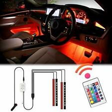 WOWLED Car LED Strip Lights Interior, 4pcs 36 LED Multicolor Interior Neon