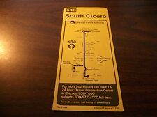 FEBRUARY 1981 CHICAGO CTA ROUTE  54B SOUTH CICERO SERVICE BUS SCHEDULE
