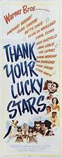 THANK YOUR LUCKY STARS Movie POSTER 14x36 Insert Humphrey Bogart Eddie Cantor