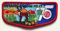 MERGED OA CUYAHOGA LODGE 17 GREATER CLEVELAND OHIO 56 440 619 PATCH OA 75TH FLAP