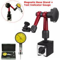 Magnetic Base Holder Stand + Face Dial Test Indicator Gauge Scale Precision Set