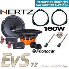 Kit 4 Casse Altoparlanti Hertz Dsk 165.3 FIAT Grande Punto Anteriori+Adattatori