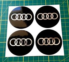 4x Alloy Wheel stickers chrome effect 60 mm fit audi center badge trim cap hub