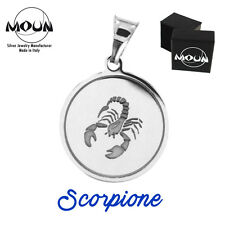 Ciondolo con segno zodiacale SCORPIONE in argento 925 Made in Italy