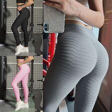 Women's Ruched High Waist Yoga Leggings Butt Lift Tummy Workout Pants Running