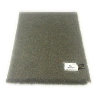 Pure Wool Tweed Blanket/Bedspread/Throw Lovat Green Plain 1881/32