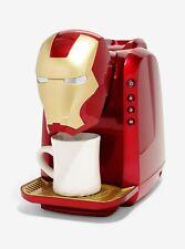 Marvel Iron Man Single Serve Coffee Maker Fits Tall Mugs- Ground Coffee Adapter