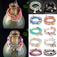 Women Boho Tassels Beaded Bracelets Set Bangle Summer Holiday Beach Style Gift