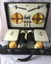 Vintage Retro 1950s/60s Sirram Picnic Set Case With Thermos Flasks