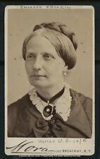 Vintage Brazil Royalty: Empress Consort Teresa Mother of Brazilians CDV c. 1870s