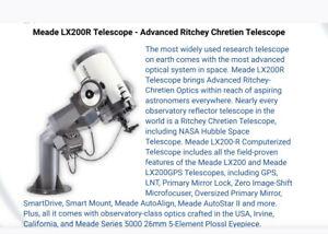 "Meade 8"" LXR200R Advanced Ritchey Chretien Telescope"