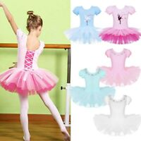Child Girl Ballerina Ballet Dance Dress Kid Gymnastic Leotard Tutu Skirt Costume