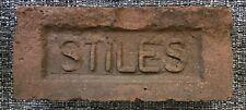 Vintage Antique STILES Reclaimed Red Brick Paver Street Garden Yard Decor USA #1