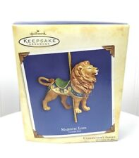 2004 Hallmark Keepsake Ornament Carousel Ride Majestic Lion Carousel Ride - NEW