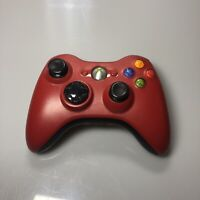 XBOX 360 OEM Wireless Controller Red Black Game Pad No Battery Cover