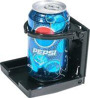 BLACK ADJUSTABLE CAR AUTO BEVERAGE DRINK CUP HOLDER CUPHOLDER DOOR CONSOLE MOUNT