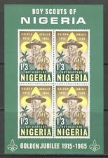 NIGERIA 1965, BOY SCOUTS 50TH ANNIVERSARY, Scott 172a SOUVENIR SHEET, MNH