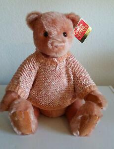 GUND-Mohair, Teddy Bear, Peach  -JACKLYN, 100 years of hugs, #9679 NWT