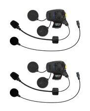 Sena SMH5D-FM-UNIV Dual Bluetooth Stereo Headset Intercom w/ Boom & Wired Mics.