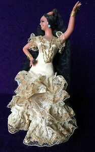 Vintage Marin Chiclana Flamenco Dancer Doll Spanish Spain with Castanets