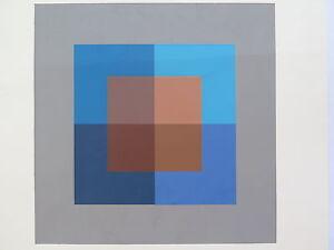 Josef Albers Original Silkscreen Folder XVII-2/Right Interaction of Color 1963